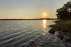 Solnedgång vid Bergholm