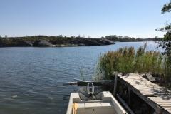 Båtturen för idag är över! Hej då båten!